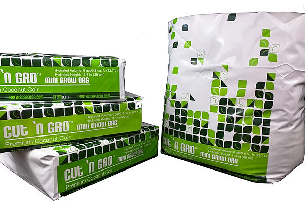 6 gallon grow bags compressed and expanded