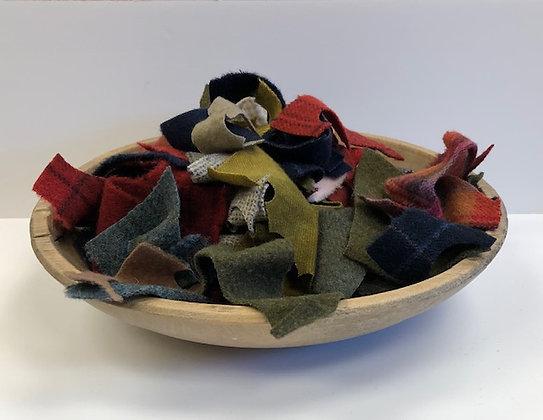 5 Oz Bag of Wool Scraps