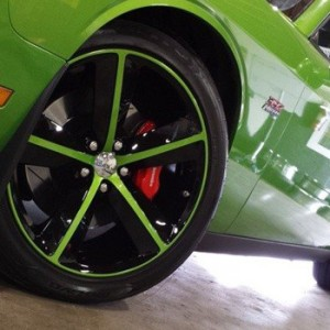 Green Custom Spokes