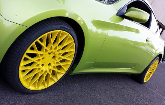 Yellow Custom Wheels