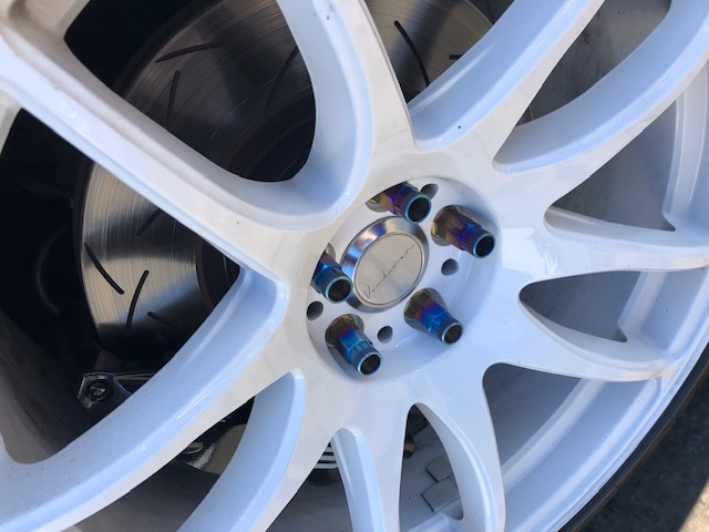 White Custom Wheel