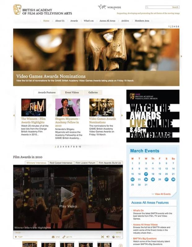 Bafta film & television website