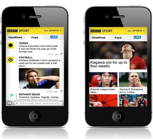 BBC Sports iPhone app