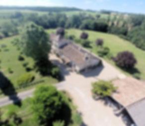 France Dorodgne Cottages de Garrigue aeriel view