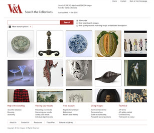 V&A Museum collections website