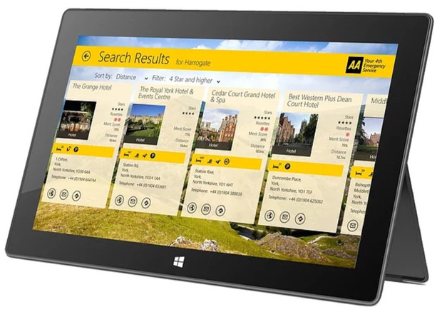 The AA hotel & restaurant app