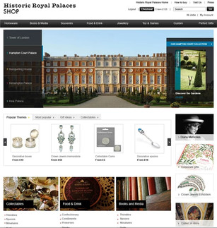 Historic Royal Palaces retail website