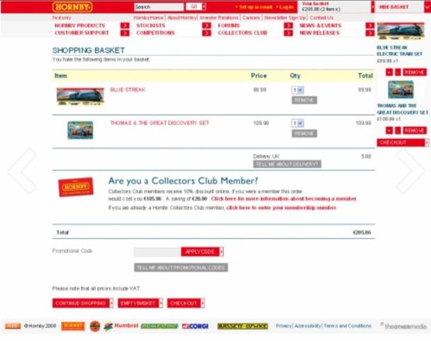 Hornby model railways retail website