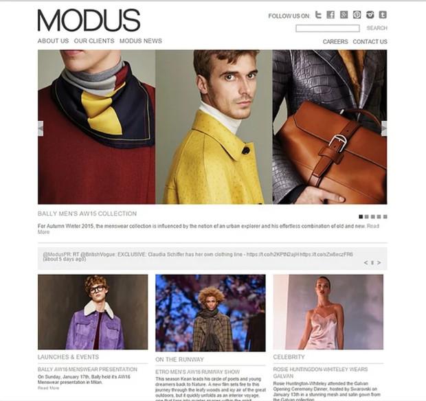 MODUS Publicity website