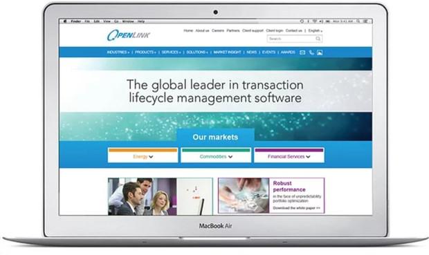 Openlink corporate website