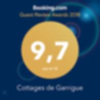 Cottages de Garrigue booking.com review rating