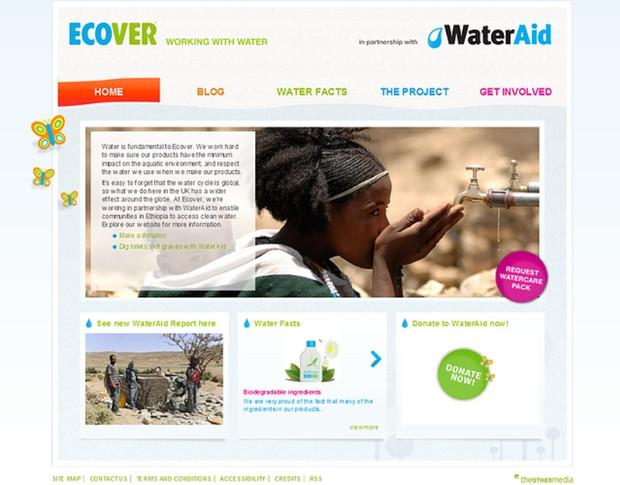 Ecover homecare website