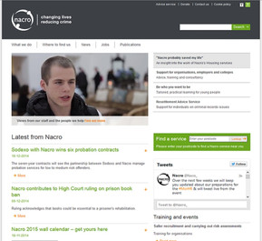 Nacro youth training charity website