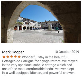 Cottages de Garrigue Google review