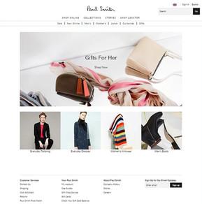 Paul Smith fashion retail website