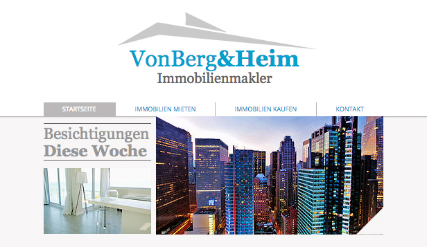 Immobilien website templates – Immobilienmakler