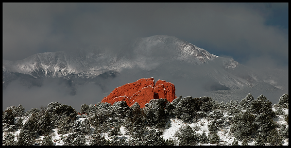Garden Of The Gods BIG SNOW Pano by Schw