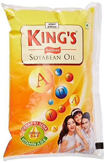 King's Refined SOYA Bean Oil, 1L Pouch