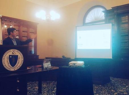 Jeremy Burke (Harvard & Aretian) presents at the Boston Area Research Initiative (BARI) conference