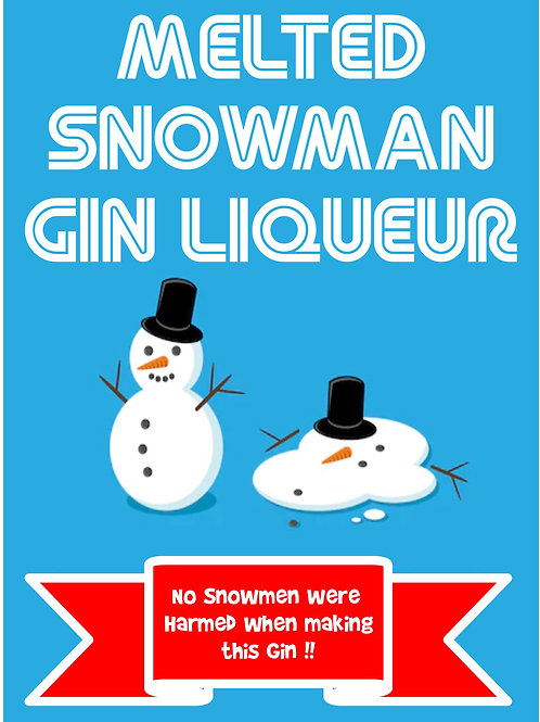 Melted Snowman Shimmering Gin