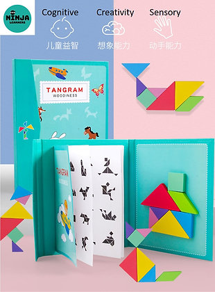 Magnetic 3D Wooden Tangram Puzzle