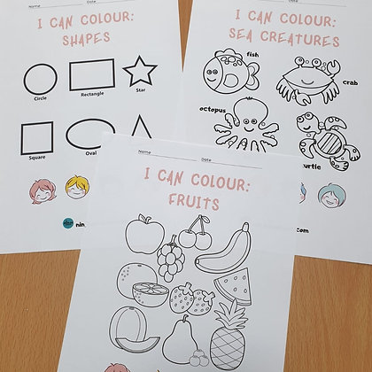 I Can Colour: Shapes, Fruits and Sea Creatures (Digital Download)