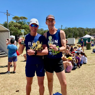 The Coach and Brad clean up at the Maroubra Fun Run