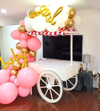 Baby Girl Party Deko