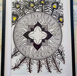 138 Mandala with Peacock Feathers.jpg