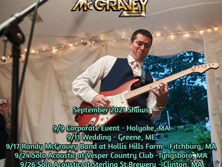 September 2021 Gigs - Randy McGravey Music
