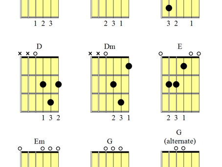 The first 8 guitar chords you should learn