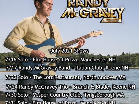 Randy McGravey - July 2021 Shows