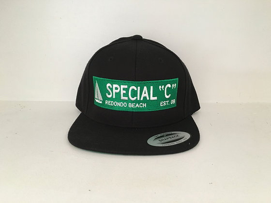 Hat - Black and Green Street Sign