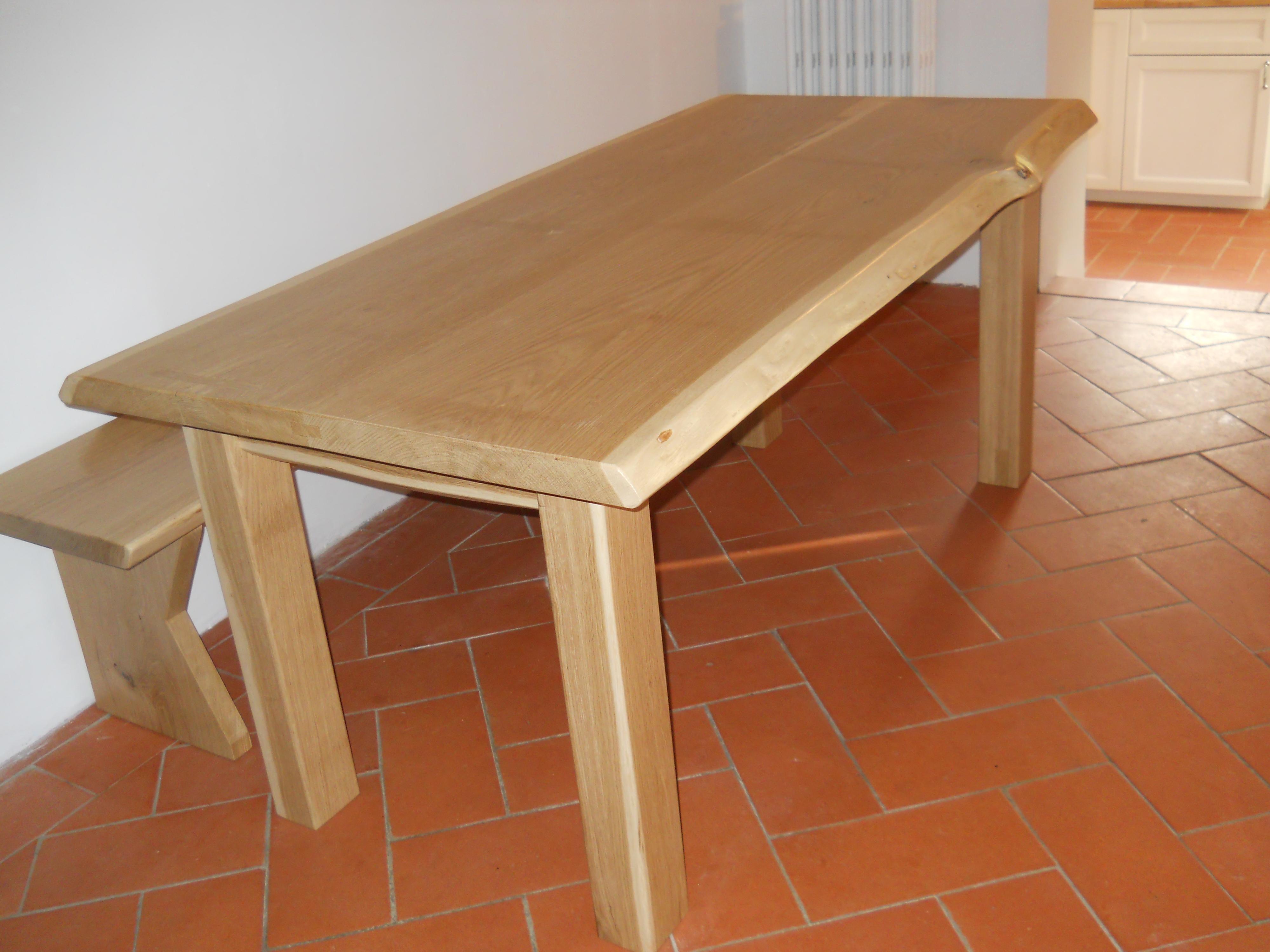 tavolo in rovere con panca