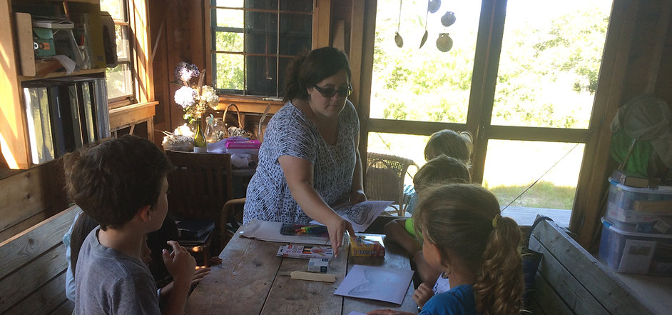Kids coloring at Field Station GSibbick.