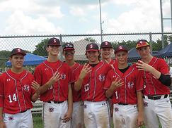 Spiders Baseball Club; Stephen Martinko, Ben DeMell, Jason Shenkel, Derek Jackson, Jack McMullen, Charlie Greenlief, Ryan Gilbert