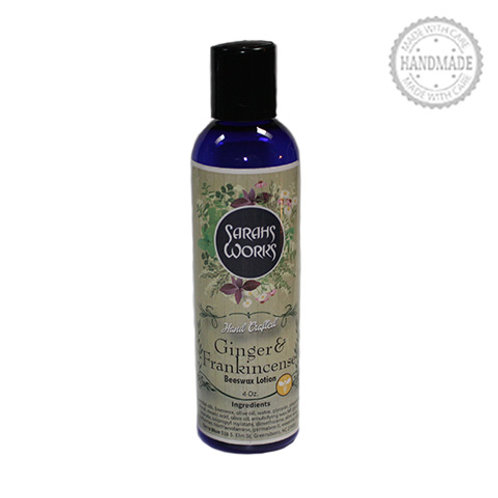 Ginger & Frankincense Beeswax Lotion 4 Oz.