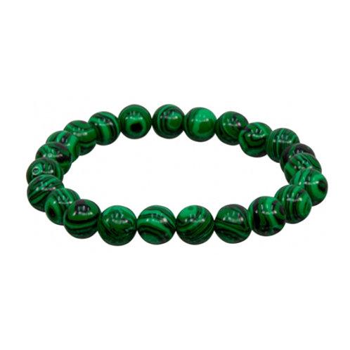 Malachite (Reconstituted) Elastic Bracelet - Multi-Sizes