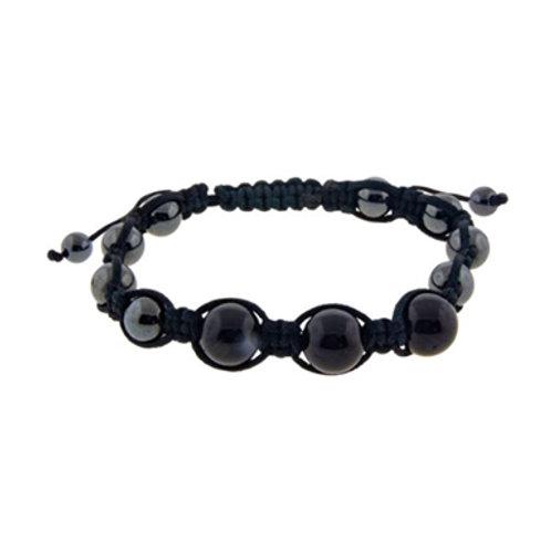 Magnetic Hematite Black Tourmaline Adjustable Bracelet