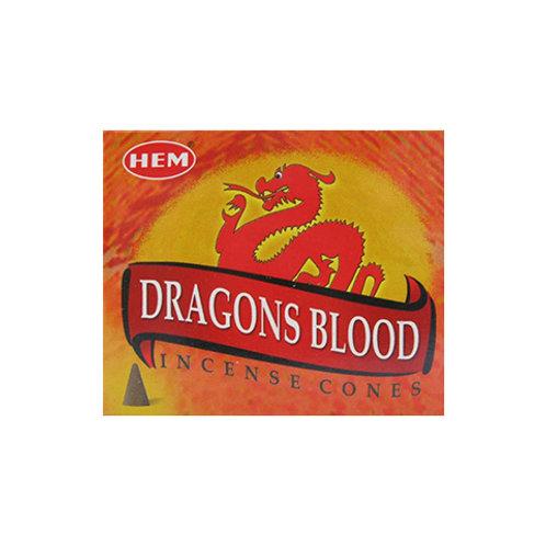 HEM Dragon's Blood Incense Cones, 25g (10 Cones)