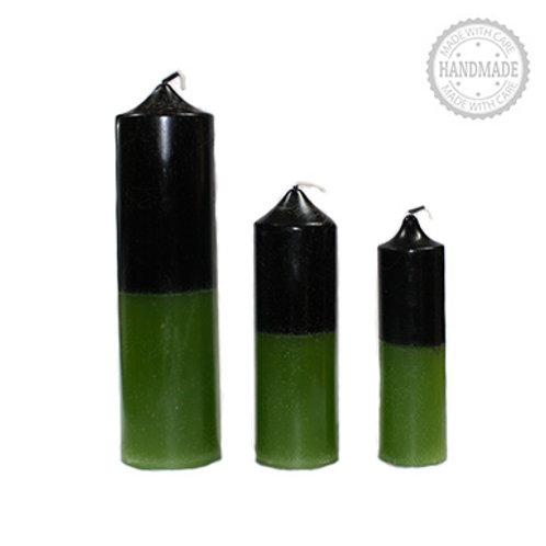 Double Action Prosperity Pillar Candle - Three Sizes