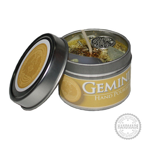 Gemini Zodiac Hand Poured Candle in Tin - 2 Sizes