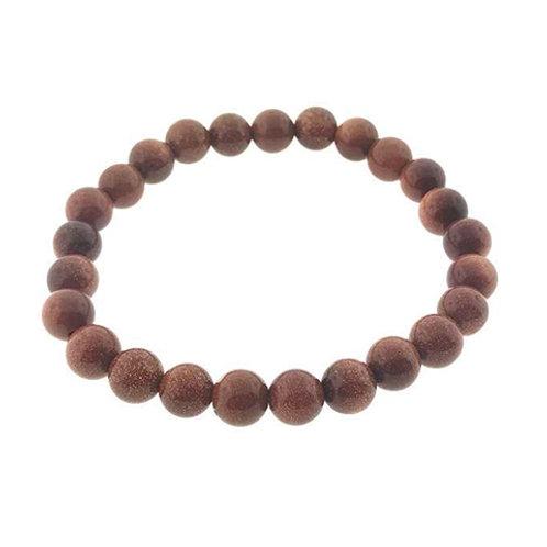 Goldstone (Round Beads) Elastic Bracelet - Multi Size
