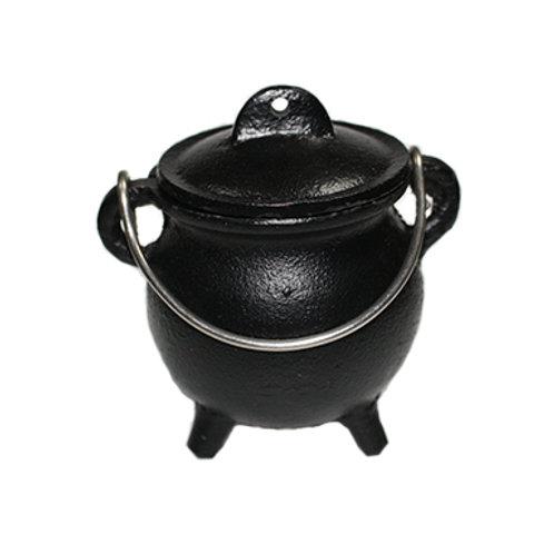 Mini Kettle Cauldron (Black) with Lid