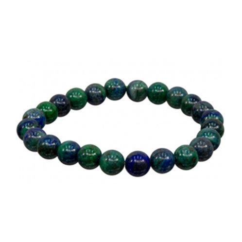 Chrysocolla (Round Beads) Elastic Bracelet, 8mm