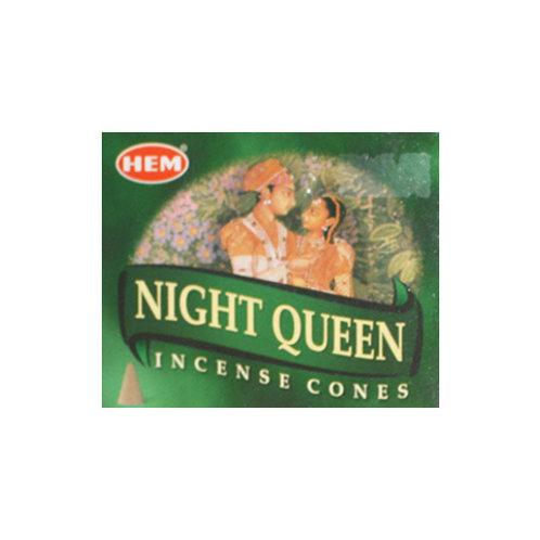 HEM Night Queen Incense Cones, 25g (10 Cones)