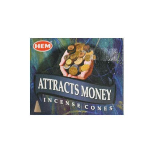HEM Attracts Money Incense Cones, 25g (10 Cones)
