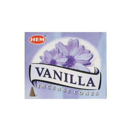 HEM Vanilla Cone Incense, 25g (10 Cones)