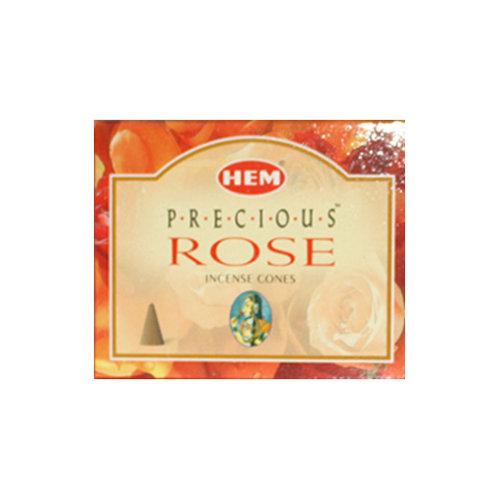 HEM Precious Rose Incense Cones, 25g (10 Cones)