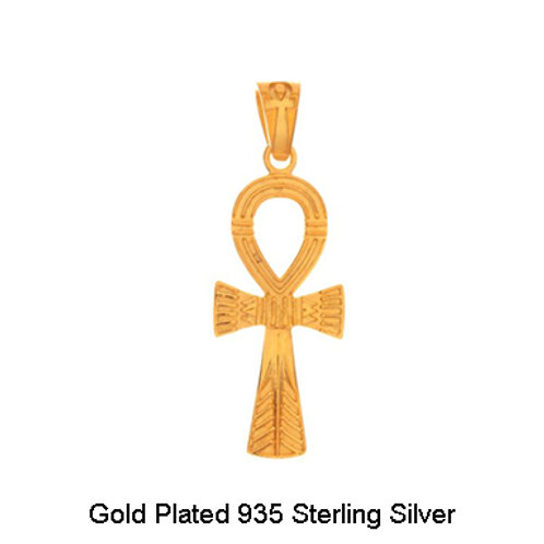 Gold Plated Ankh Silver Pendant